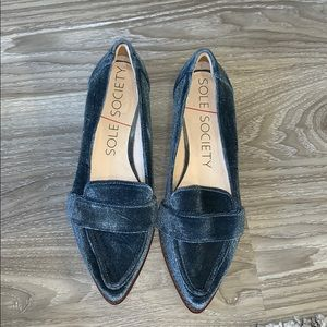 Sole society blue loafer